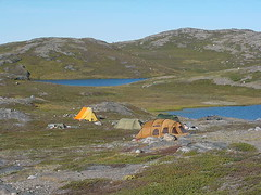 Our camp, a 30 minute chopper ride from KISS