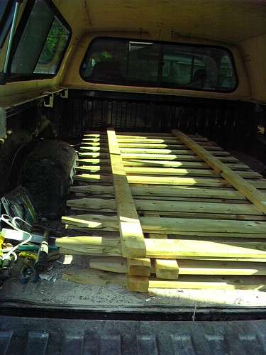 Fence panels - glad to have an 8' truck bed