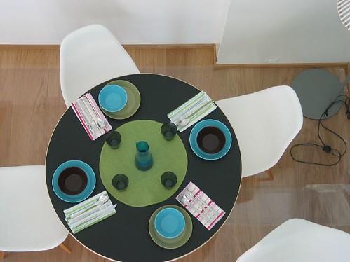 桌子擺飾一景