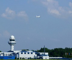 Air China over Control Tower