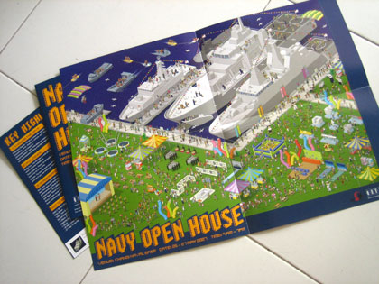 navy open house flyer/poster