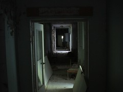 Dark corridor - Prypiat Hospital (mikestuartwood) Tags: hospital dark europe power corridor radiation nuclear ukraine radioactive powerplant easterneurope nuclearpower chernobyl alienation chornobyl prypiat prypjat pripjat