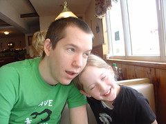 Me & Kayla at breakfast (Justin Snow) Tags: portrait breakfast dads wallingford skippingschool