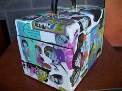 Angela Anaconda Remodelled Vintage Beauty Case Side (ArtDecAdeNcE) Tags: travel ballet dog beauty vintage ooak case anaconda poodle angela nanette manoir decoupage zne
