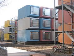 Studentenhuisvesting in gestapelde Spaceboxen
