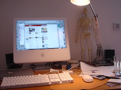 my view (nur_light) Tags: imac skeleton anglepoise desk