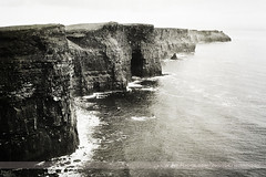 Cliffs of Moher, County Clare, Ireland (Seven Seconds Before Sunrise) Tags: travel ireland bw water landscape europe clare eire cliffs cliffsofmoher