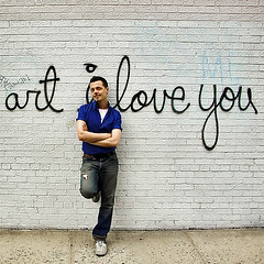 art i love you (gaspi *yg) Tags: a2 2005 7nyc07 street graffiti portrait nyc westvillage newyork evill1 iloveyou flickrfolk optimized urban city sr129 gaspi