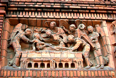 Close up on Bas Relief decoration of old red building 3 (steeev) Tags: basrelief exterior red brick sculpture decor adornment bassorilievo steeev