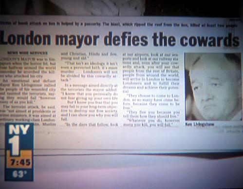 London Mayor Defies the Cowards