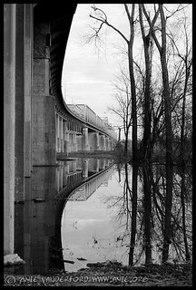 Reflection under the Memphis I-55 Bridge
