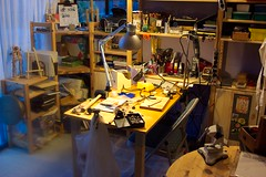 studio work bench (old studio) (Terry.Tyson) Tags: art studio workbench t2