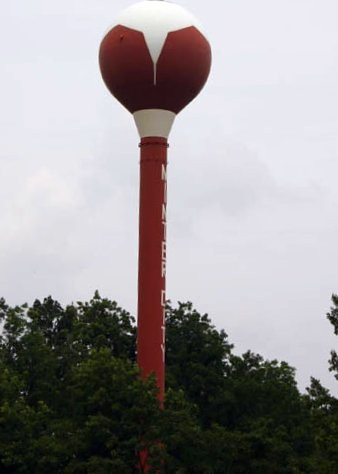 Cotton boll water tower, Minter City, Mississippi