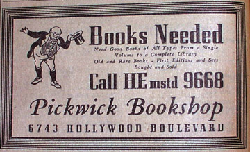 The only Pickwick Book Shop image I could find online...which is just sad...