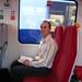 Jacob on the train to Windsor