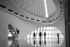 calatrava entrance (Edwort) Tags: architectural signaturebuilding superstarachitect summer roadtrip 2005 wisconsin santiagocalatrava milwaukee mma midwest museum interior