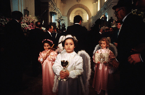 Anxious  angels in a church - Processione dei Misteri - Copyright by Martin  Liebermann