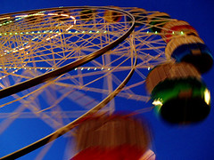 we love luna park #6 (macca) Tags: lunapark sydney australia themepark fun colour wheel ride circle blue lights round movement noise