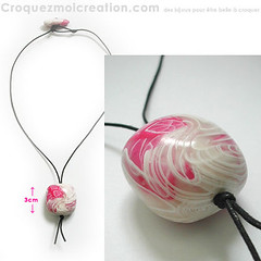 Petit fruit rose (lavomatic) Tags: pink fashion rose collier handmade main jewelry bijou clay jewels mode argile fait perle jewel polymer polymre bijouterie croquezmoicreation croquezmoicreationcom croquezmoi plomyer