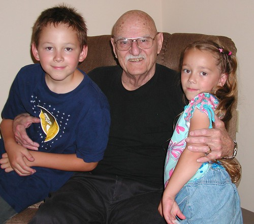 Ian & Ivy with Great Grandpa