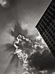 burst (davemacintosh) Tags: nyc blackandwhite streetphotography touchthesky