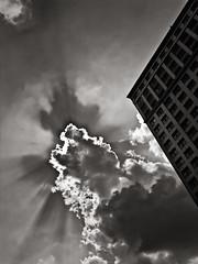 burst (davemacintosh) Tags: nyc blackandwhite streetphotography touchthesky