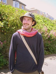 the unpink scarf (GatheringZero) Tags: 2005 chris me hat scarf cornwall ixus christophe stives sharpy