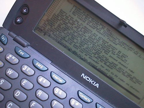 IRC on a Nokia 9110 Communicator
