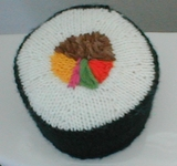 knit sushi tp roll cozy