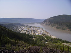 view of dawson from the moosehide slide (michael and adair) Tags: dawson yukon