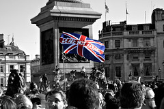 not afraid (Wireman) Tags: london trafalgarsquare vigil 0707 terrorism notafraid