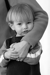 Hold me (Norby) Tags: boy portrait bw mt notmykid sywbappparentchild sywbppcandid