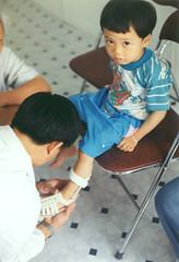 wary (birdcage) Tags: hosptial vietnam hanoi vva wary curious orthopedist brace