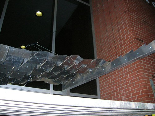 aluminum canopy in progress