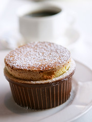 souffle and coffee (speedM) Tags: food dessert souffle fw