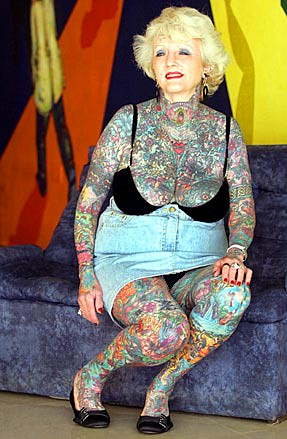 Tattoo You. 69-year-old Isobel Varley is the world's