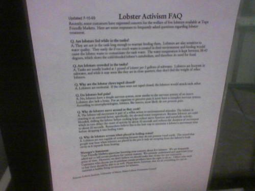 Lobster Activism FAQ
