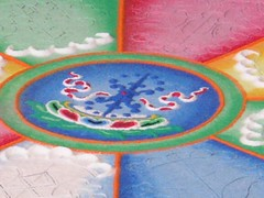 Sand Mandala captured by Ron Metcalfe