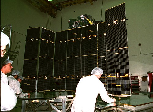 Atlas E launch: Inspecting the Solar Panels