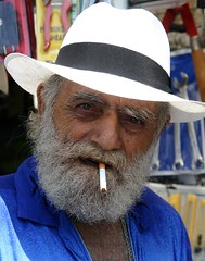 Old face... (ido1) Tags: telaviv portrait urfavsfaces israel homeless poor poverty blue smoking beard hat jaffa