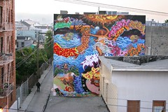 giant mural on Osage Alley (otherthings) Tags: sanfrancisco graffiti mural aviso hyde mission 25th kel beats sira buter zore twick skech osage zel