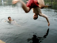 Martin & Liam -- Lake St. Peter (ick Harris) Tags: summer ontario canada geotagged cottage algonquin lakestpeter geolat45325479 geolon78015375 martinwater regioncottagecountry