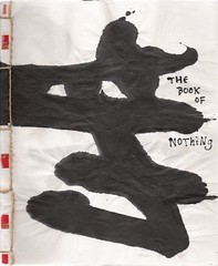 The Book of Nothing  (Neshamah Spirit Art) Tags: blackandwhite handmade journal books scan kanji nothing calligraphy mu sumi shodo sewn handmadebook handmadebooks   brushcalligraphy nicoleraisinstern tortugadeldesierto