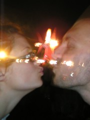 lauren and mike (kidicarus222) Tags: people random coachella kiss artsy cool face boy girl love transparent doubleexposure mouth concert fire light double