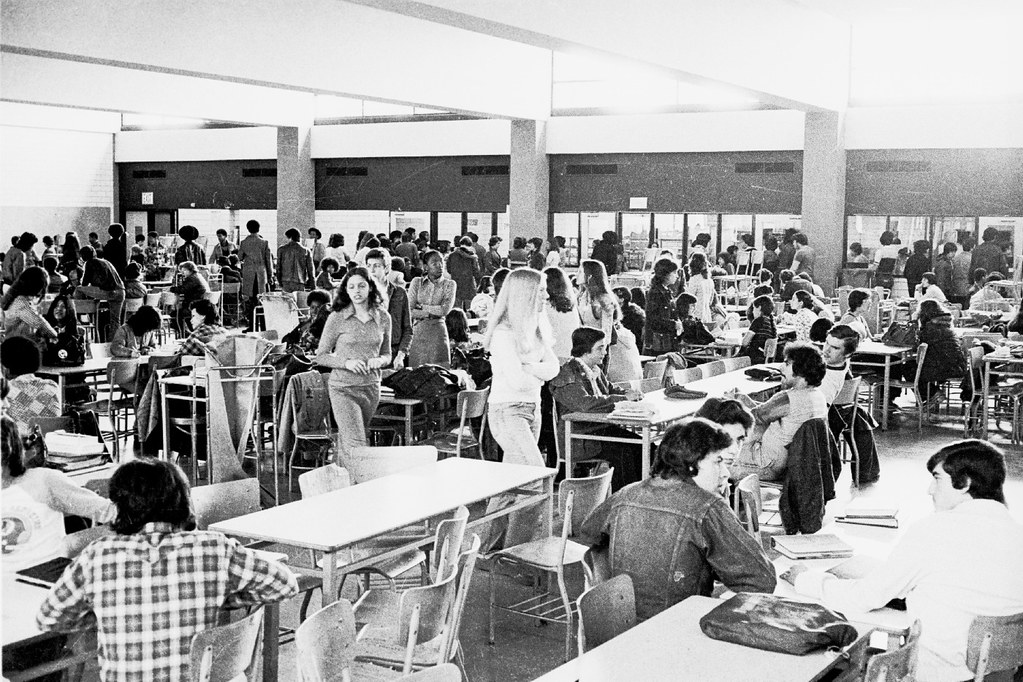 FDR Lunchroom High School 1975 '75 70s by Whiskeygonebad, on Flickr
