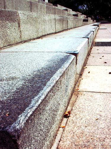 A waxed curb