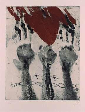 Antoni Tàpies, Empreintes de main, 1970