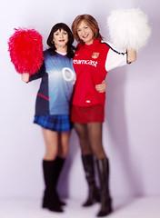 Arsenal Cheerleaders (Tranny Division) (Jo Angel) Tags: joanna laura angels boudoir jodielynn ukangels wwwjoannasdiarycouk photoshoot makeover tranny tgirl arsenal cheerleader
