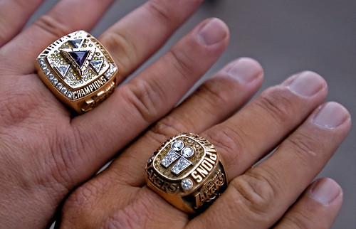 Chunky, funky NBA championship rings