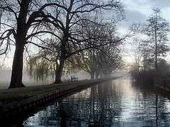 River Walk (BombDog) Tags: morning mist reflection london topf25 fog sunrise river photography early canal topf50 topf75 walk enfield jonlucas jonathanlucas